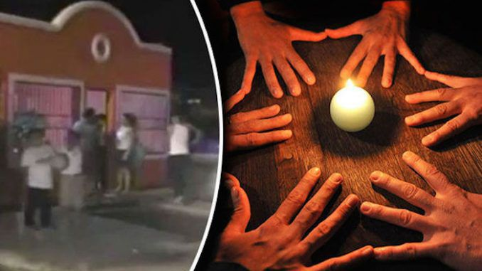 Central America school girl found wondering the streets after an apparent illuminati ritual