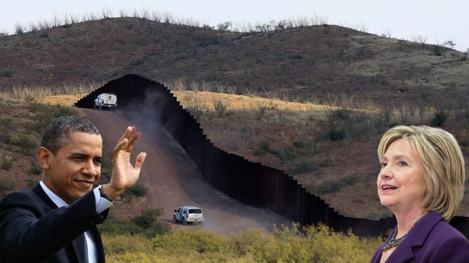 The Secure Fence Act of 2006 was a bill providing for the construction of 700 miles of double-fencing along the US-Mexico border - and Barack Obama, Joe Biden and Hillary Clinton all put their hands up and voted 'yea.'