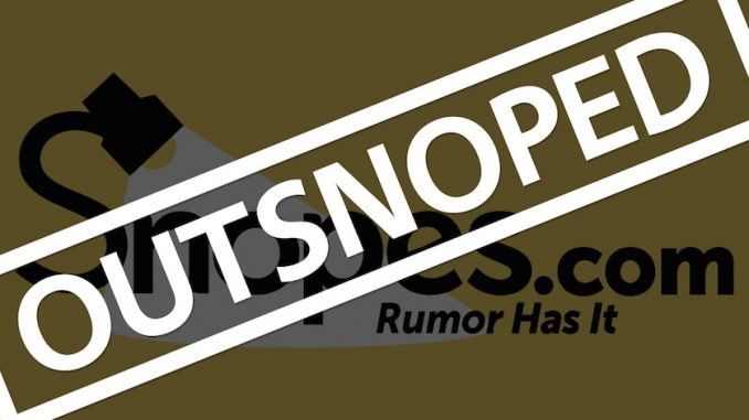 Snopes has been caught lying again, proving that it has a political and partisan agenda and that it is willing to mislead and deceive its readers in order to advance the cause of Hillary Clinton and the Democratic Party establishment.