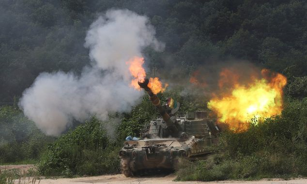 South Korea Launches Largest Ever Artillery Drills Near N Korea Border