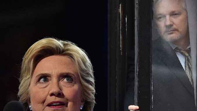 Julian Assange has warned he has enough evidence on Hillary Clinton making secret deals with an alleged Islamic State sponsor for the FBI to indict her.