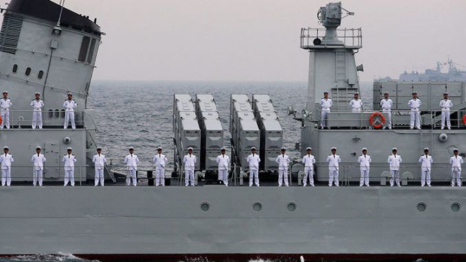 Chinese Navy Carries Out Combat Drills In Sea Of Japan