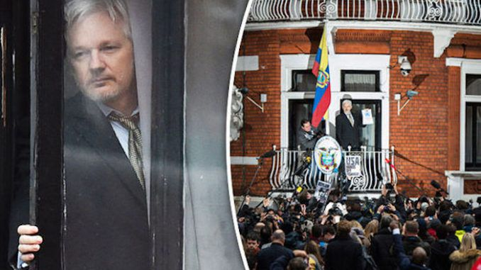 An intruder climbed the wall of the Ecuadorian embassy in London where Julian Assange has asylum, sparking fears the WikiLeaks founder was the subject of a failed assassination plot.