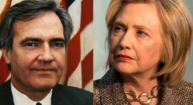 New evidence suggesting Vince Foster did not commit suicide, but died of two gunshot wounds to the neck, has left Hillary Clinton in the frame.
