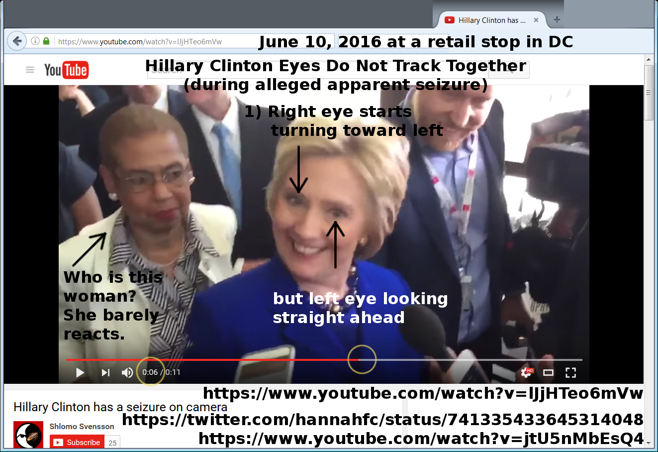 Hillary Clinton seizures proof