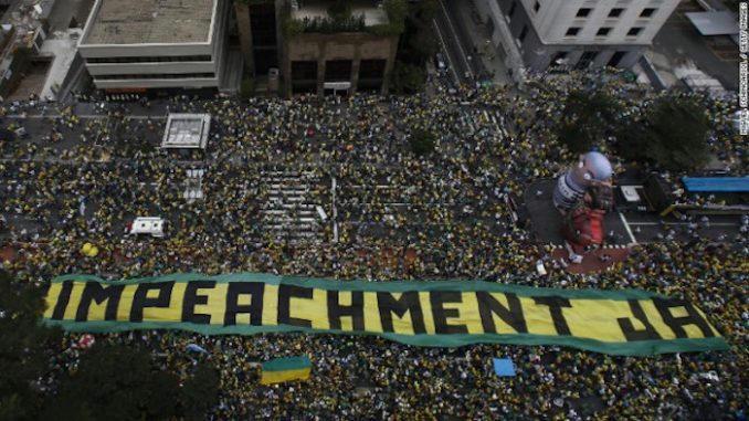 Millions of people protest around various cities in Brazil