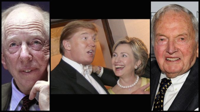 Both Hillary Clinton and Donald Trump are controlled by globalist powers, including the Rothschilds, whilst giving the American public the illusion of 'choice' in a rigged election.