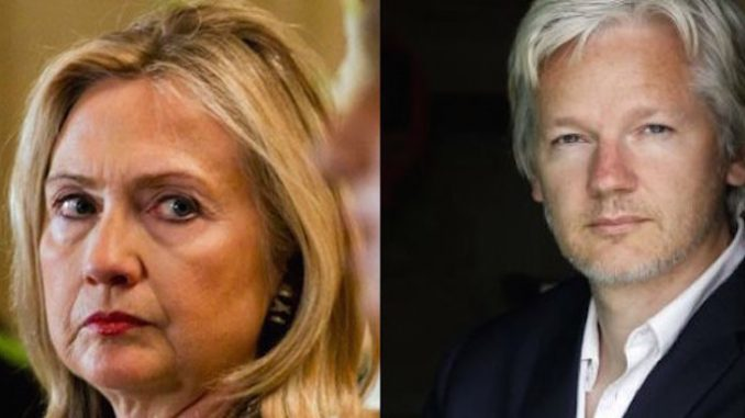 "Julian Assange claims he has been ""attacked"" by the ""Clinton threat machine"" and described the attackers as ""ferocious."""