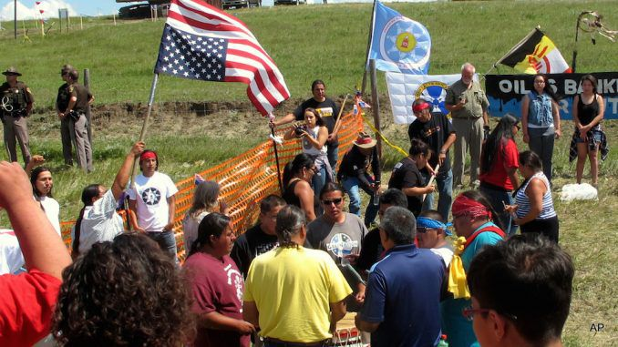 US government cut off water supply to native Americans