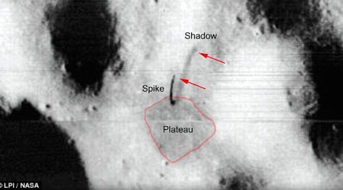 UFO expert released photographic evidence of alien base on the moon in NASA photo