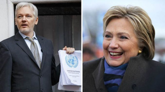 "Julian Assange claims Hillary Clinton lied to the FBI when she said she didn't know what the classified ""c"" marker means in government documents."