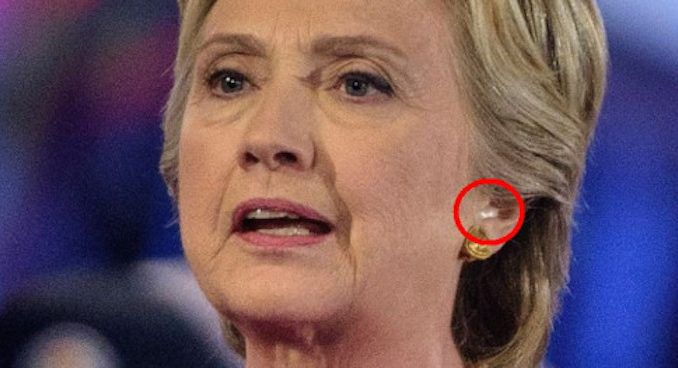 Hillary Clinton caught wearing ear piece during NBC townhall