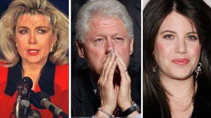 Trump has invited Gennifer Flowers, Monica Lewinsky and more of Bill Clinton's extramarital lovers to sit in the front row at the coming Presidential debate.