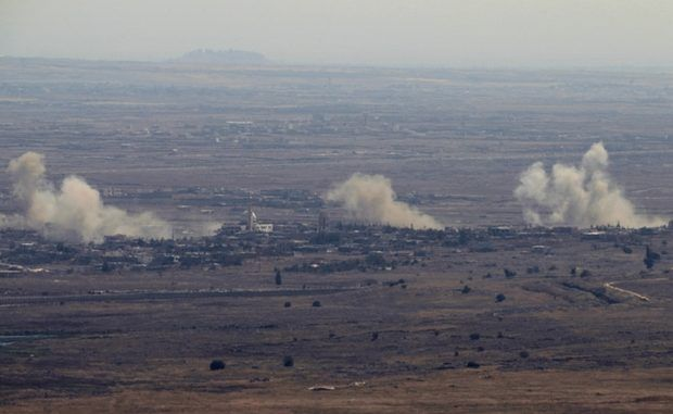 Israel Strikes Syrian Army Positions In Golan Heights