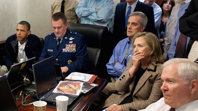 Hillary's shocked expression during bin Laden raid may have been a coughing fit