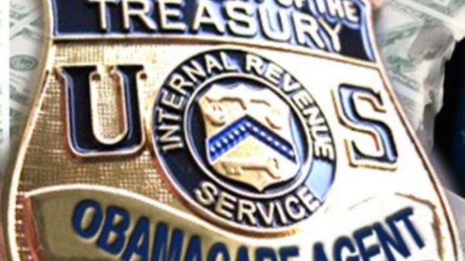 IRS begin issuing threatening letters to citizens refusing Obamacare