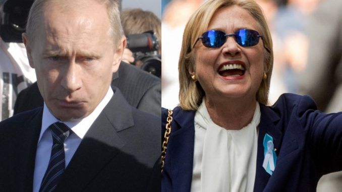 Putin says Hillary Clinton is a threat to world peace