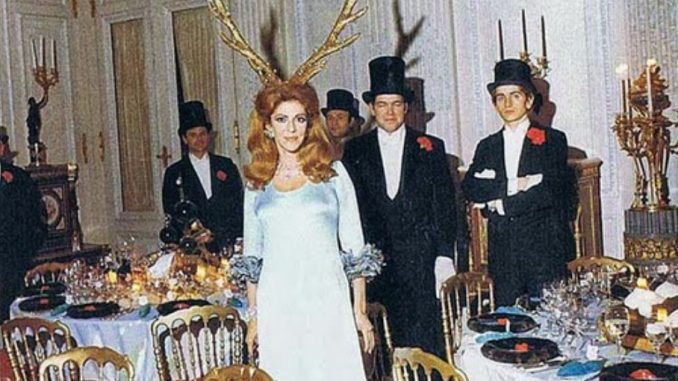 In 1972 Marie-Hélène de Rothschild hosted a satanic ceremony in one of the Rothschild's enormous, secretive mansions. Photographs of this were leaked on the internet.