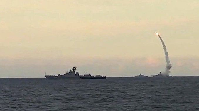 Russian warships attacked a military operations room in Syria, killing Israeli, US, and British officers believed to be supporting ISIS.
