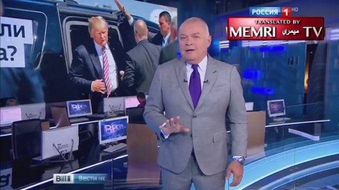 Russian TV host says the New World Order will attempt to assassinate Donald Trump
