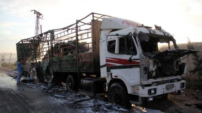 Footage Shows Bombed UN Aid Convoy 'Escorted By Terrorists'