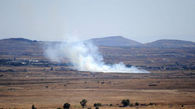 Israel Attacks Syrian Military Targets In Golan Heights