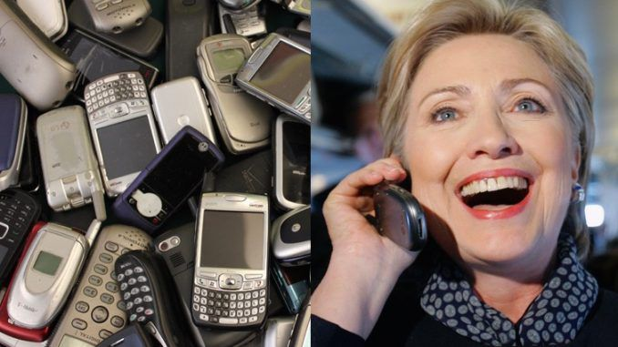 The Federal Bureau of Investigation was unable to access any of the cell phones Hillary Clinton used while she was Secretary of State and now we know why - she had her staff smash them with a hammer.