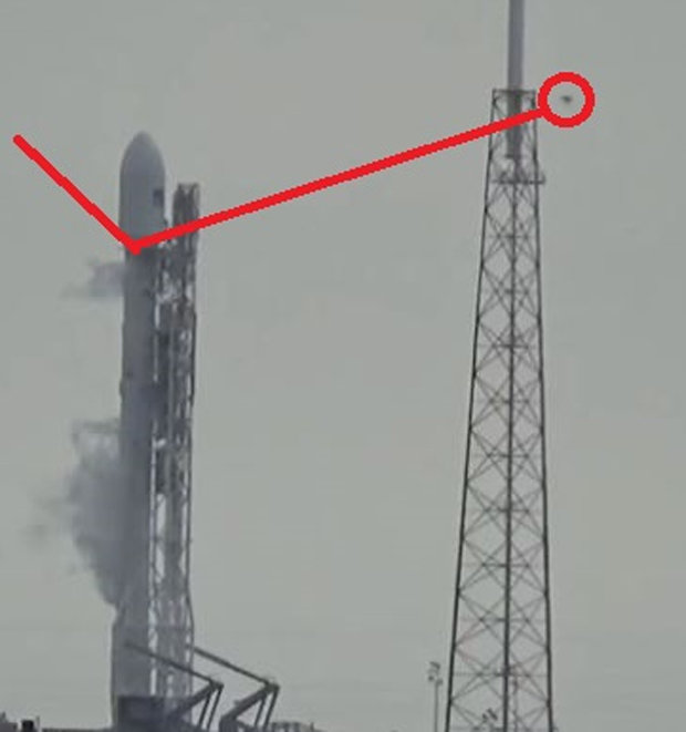 SpaceX rocket ufo