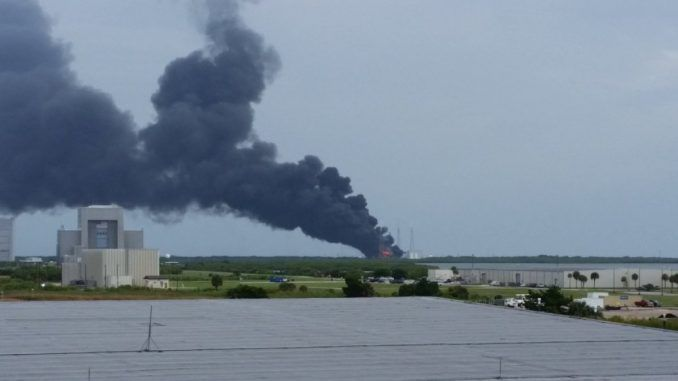 SpaceX Rocket Explodes During Test Firing At Cape Canaveral