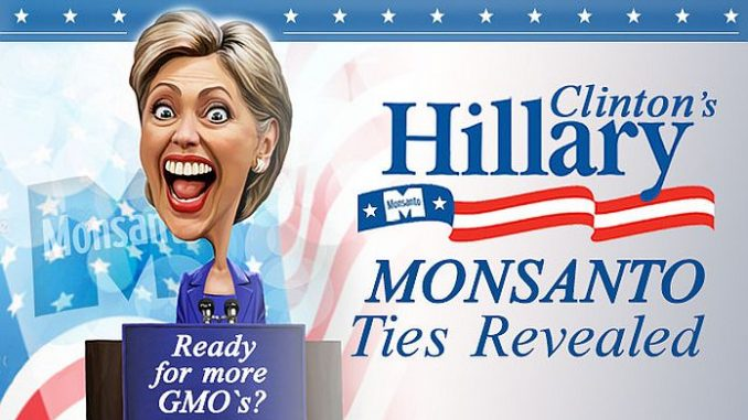 Wikileaks emails show Hillary Clinton inviting a top Monsanto executive to a fundraiser to help put her in the White House.