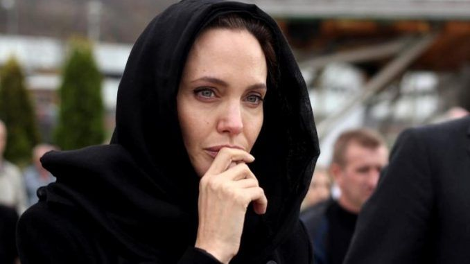 A sex list written by Angelina Jolie in the 1990s has been leaked online describing Hollywood Illuminati rituals she participated in early in her career.