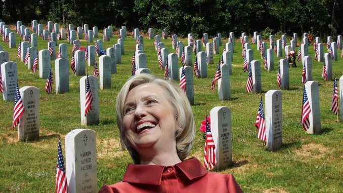 A Democrat voter registration group has been caught filing Hillary Clinton applications on behalf of 19 dead people, including a WWII veteran.
