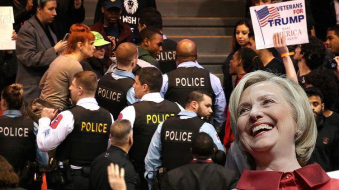 A stunning undercover video posted online exposes Hillary Clinton campaign operatives admitting they are paid to start violence at Trump rallies.