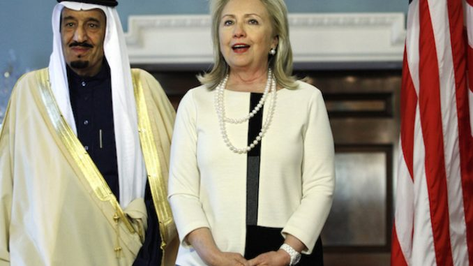 Wikileaks release shows that Hillary Clinton admitted that Saudi Arabia sponsors ISIS