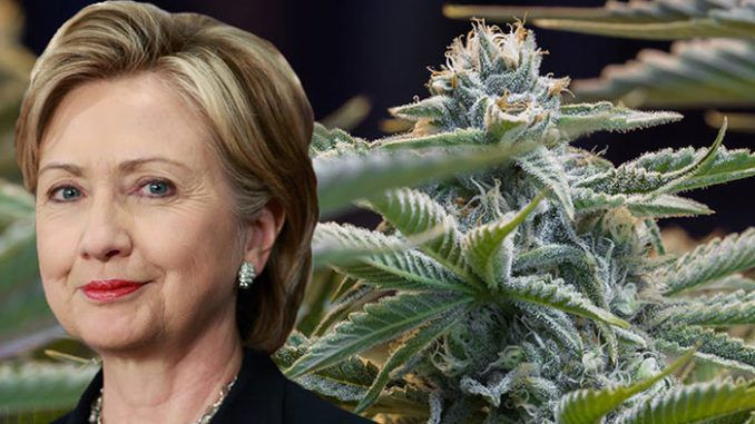 WikiLeaks has revealed that Hillary Clinton told Goldman Sachs bankers that legalization of marijuana will not happen on her watch.