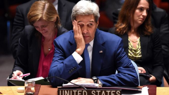 A leaked audio recording from John Kerry reveals that the U.S. planned to topple Assad from the outset