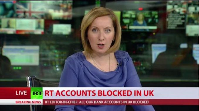 Russia Today have been blocked by the UK government from operating in the United Kingdom