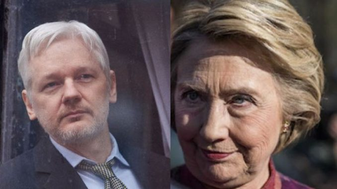 Hillary Clinton ordered drone strikes on WikiLeaks founder Julian Assange