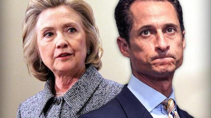 New Clinton emails being investigated by FBI originated from 'sex pest' Anthony Weiner