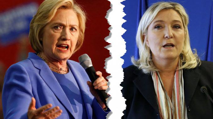 "Clinton As President Is ""A Danger To World Peace"": France's Le Pen"