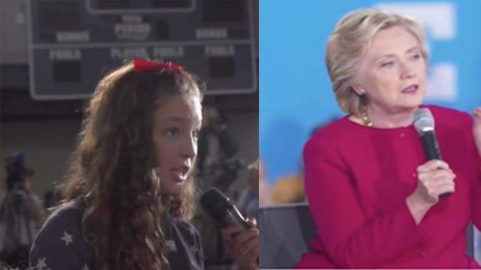 Hillary Clinton has been caught staging a fake interaction with a child actor and answering a prepared question at a town hall in Haverford, Pennsylvania yesterday.