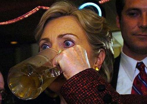Is Hillary Clinton's judgement impaired due to her daytime consumption of alcohol?