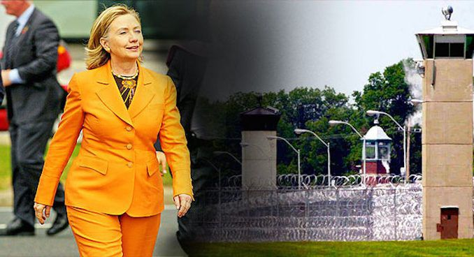 Poll reveals more Americans want to see Hillary Clinton in prison than in the White House