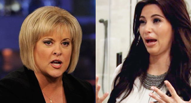 "Legal commentator and television personality Nancy Grace pointed out that the Kim Kardashian Paris robbery story ""keeps changing""."