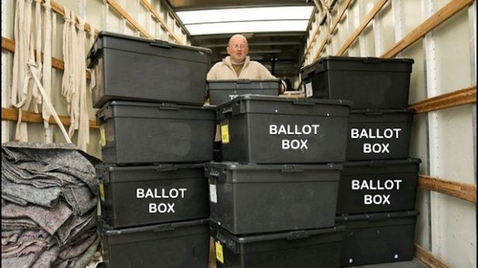 Tens of thousands of fraudulent ballot slips have been found in an Ohio warehouse, and the votes are all pre-marked for Hillary Clinton.