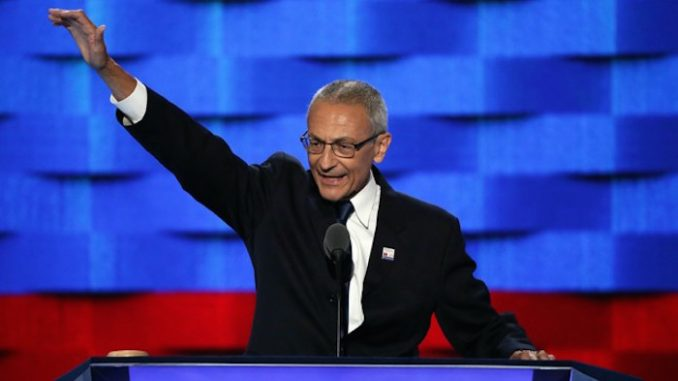"A WikiLeaks email reveals John Podesta planned to make a ""stiff example"" in punishing someone for leaking information - regardless of evidence."