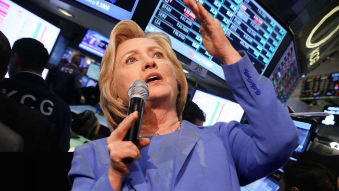 The stock market plunged on Friday as the FBI announced it is reopening the investigation into Hillary Clinton's use of a private email server.