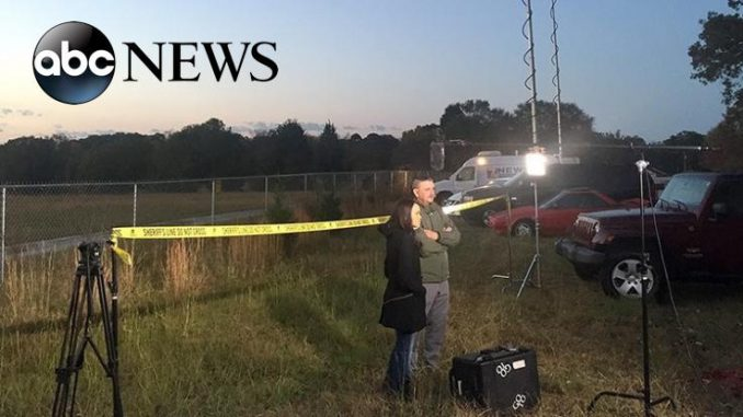 "ABC News has been caught staging a fake ""crime scene"" for reporter Linsey Davis to report from in a segment broadcast on Good Morning America."