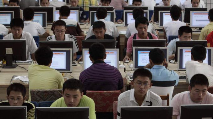 China require all citizens to register to use the internet