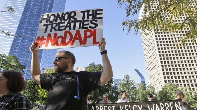 Protests Against North Dakota Pipeline Spread Across US